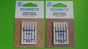 10 Schmetz agujas 130//705 h grosor 100//16 Jersey nähmaschinennadel plana pistón