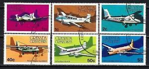 Avions-Grenade-Grenadines-59-serie-complete-de-6-timbres-obliteres