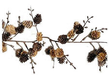 Artificial Pine Cone Garland Christmas Cabin Country Decor 6 ft NEW XG25222
