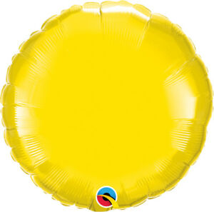 YELLOW-ROUND-BALLOON-18-034-METALLIC-YELLOW-PLAIN-QUALATEX-FOIL-BALLOON