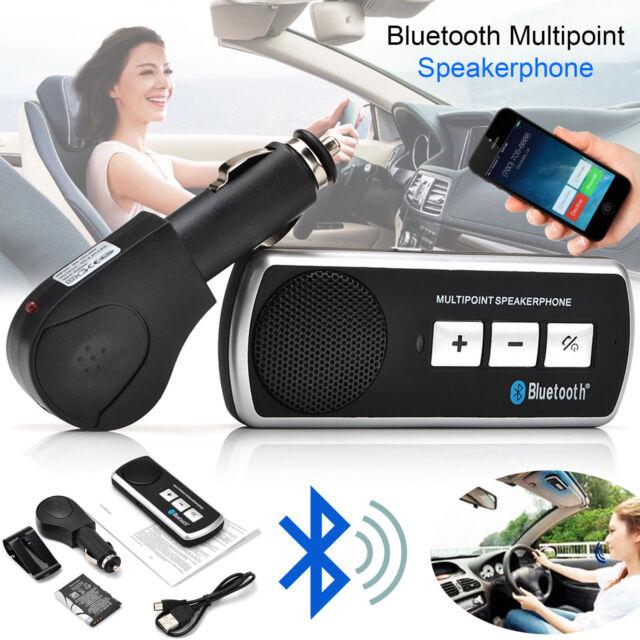 New Wireless Bluetooth Handsfree Speaker Phone MP3 Car Kit Sun Visor Clip Drive