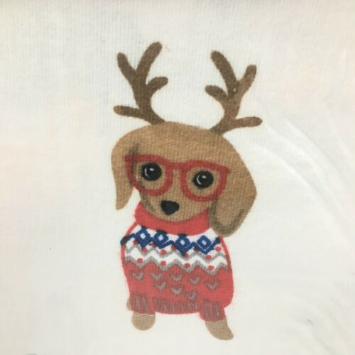 Cynthia Rowley Dachshund Dog QUEEN Sheet Set Christmas Turkish Flannel Winter