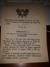 REGIO DECRETO 1888 TABELLA NOTAI GUALDO TADINO ROCCELLA IONICA PERITO VALLO DELL
