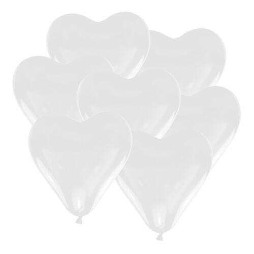 Herz Luftballons Ø 30 cm weiß 10 50 100 Stk Herzballon Luftballon Heliumballons