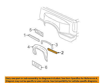 Chevrolet GM OEM Silverado 1500 Pick Up Box Bed-Body Side Molding Right 15045334