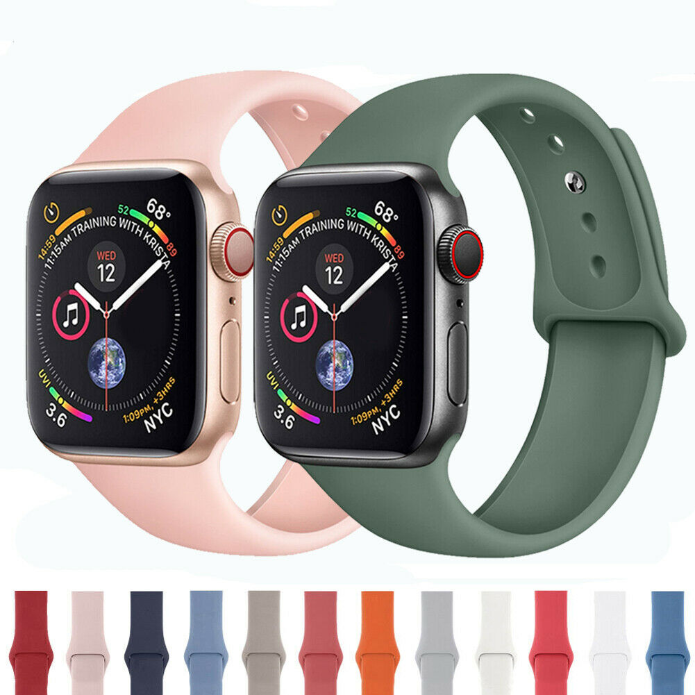 Silicone Band Watch Strap Bracelet For Apple Watch iWatch 38