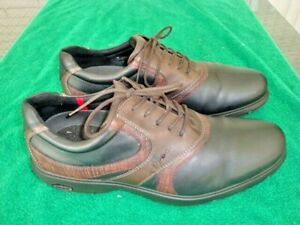 ecco brown golf shoes