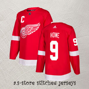 Gordie Howe  9 C Detroit Red Wings Hockey Jersey Men s M-3XL Red ... 8a33c7a6a