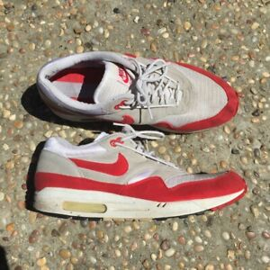 Details about 2005 Nike Air Max 1 Classic Sport HOA White Varsity Red #313097 161 Size 11