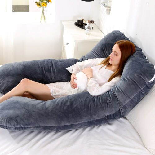 U Shaped Maternity Pregnancy Pillow Nursing Feeding Boyfriend Body Pillows GN