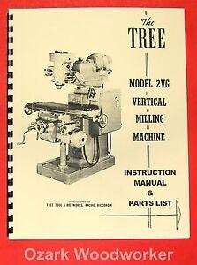 Atlas Horizontal Milling Machine Instructions & Parts Manual All ...
