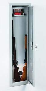 Image is loading Stack-On-IWC-55-Full-Length-In-Wall- & Stack-On IWC-55 Full Length In Wall Gun Storage Vault Cabinet Safe ...