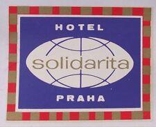 Antique Czechoslovakia Hotel Solidarita Fortuna City Prague Travel Decal Sticker