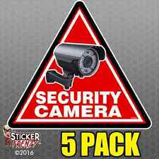 5 Pack TRIANGLE Security Camera Stickers Home Alarm Decal Vinyl Window #FS059