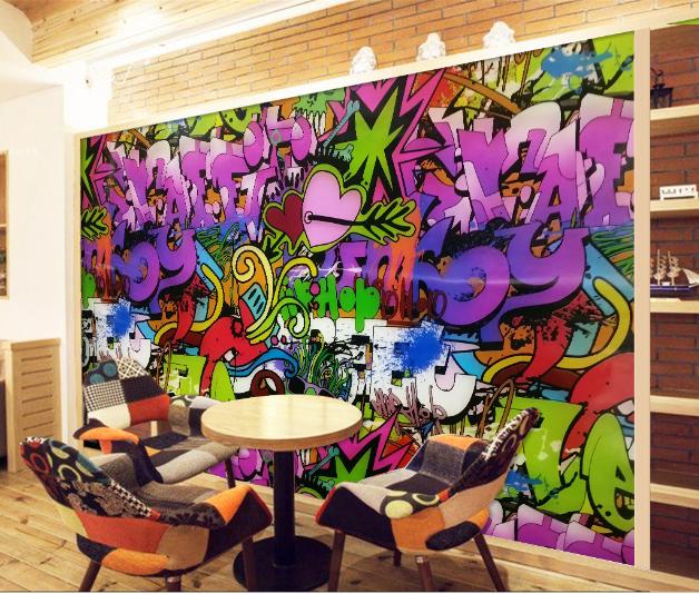 3D Lila Doodle Hintergrund 84 Tapete Wandgemälde Tapete Tapeten Bild Familie DE
