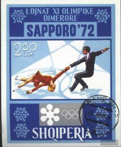 Albanien-Block44-kompl-Ausg-gestempelt-1972-Olymp-Winterspiele-Sapporo