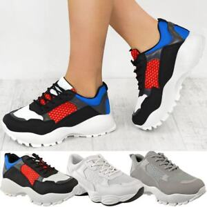 Details about Womens Ladies Dad Sneakers Chunky Platform Trainers Runner Designer Shoes Size