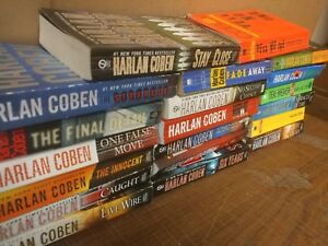 Lot-of-10-HARLAN-COBEN-Mystery-SET-SERIES-MYRON-BOLITAR-Paperback-PB-RANDOM-MIX