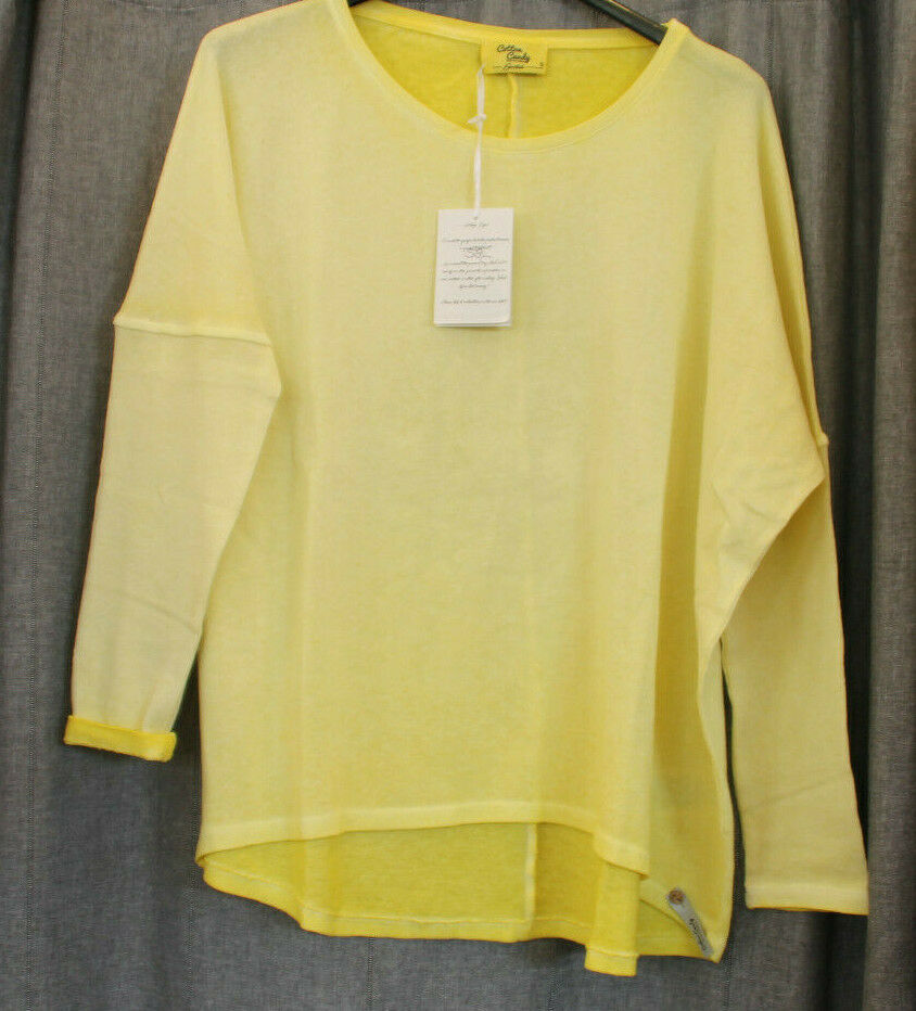 Longsleeve sweater shirt von cotton candy in gelb gr M