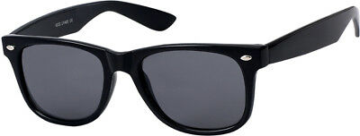 Realistisch Sonnenbrille Art. 8024 Retro, Schwarz / Schwarz Herren Damen Modebrille Quell Sommer Durst
