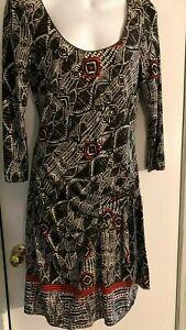 Max-Studio-Black-amp-red-Side-Tie-Dress-Women-039-s-medium