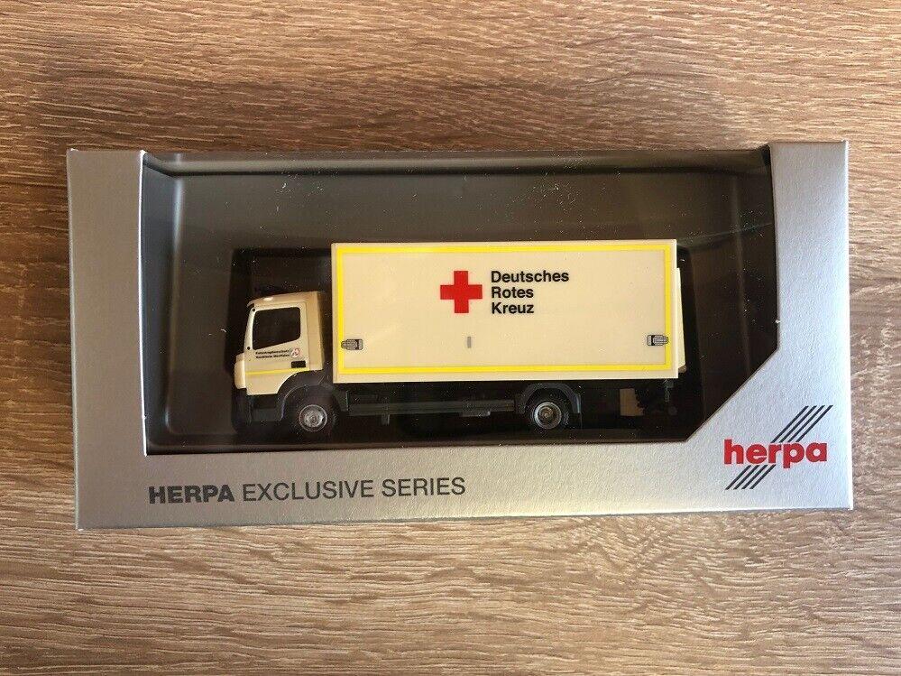 Herpa 936569 - 1 87 87 87 Mercedes-Benz Atego ´13 Koffer-LKW - ASB  Katastrophenschutz 632f38