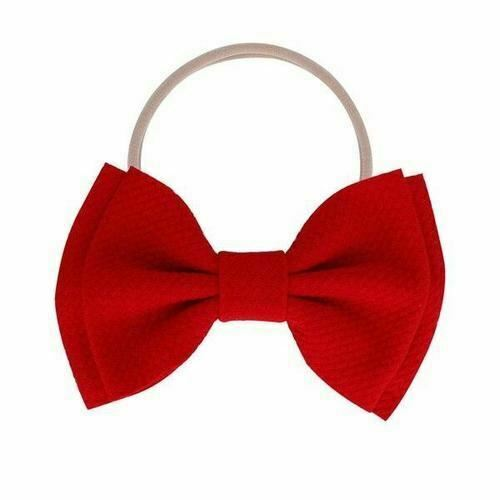 Super Soft Solid Knot Hair Bow Slim Nylon Headbands Hairbands for Baby Girls