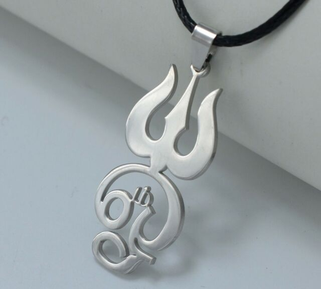 Pendant Rope Chain Jewelry Stainless Steel Tamil Om Symbol Sign