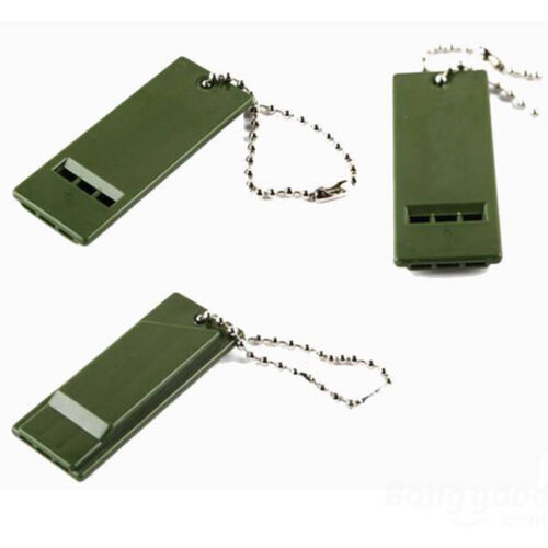 Light Whistle Survival Rescue Emergency Signal Tool for Camping Hiking Keychain