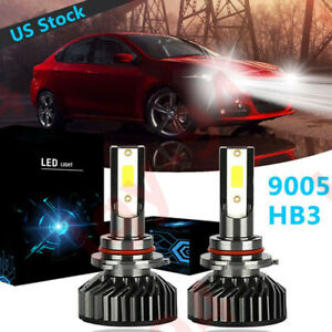 LED Headlight Bulbs Kit CREE 9005 HB3 for DODGE Charger 2016-2019 High/&Low Beam
