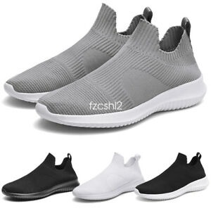 Men-039-s-Casual-Running-Knit-Sport-Shoes-Athletic-Slip-on-Loafers-Sneaker-Boots