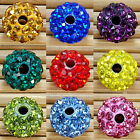 20Pcs/Pack Czech Crystal Rhinestones Pave Clay Round Disco Ball Spacer Beads New