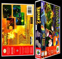 Rayman 2 - N64 Reproduction Art Case/box No Game.