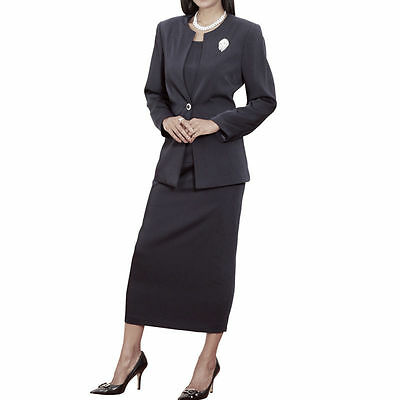 New Lady Women's 3 Piece Casual / Dress / Office / Church Suits Set  Black L295