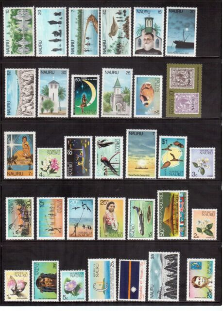 NAURU SELECTION OF 63 DIFFERENT MINT STAMPS !!
