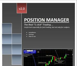 "Forex Position Manager V2.0 - The Real ""1 Click"" Trading .. - Metatrader 4 Forme éLéGante"
