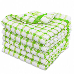 6 Pack 100% Cotton Tea Towel Set Terry Thick Kitchen Dish Cloths Drying Cleaning