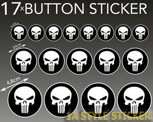 Punisher-Aufkleber-17-Stueck-black-Punischer-Totenkopf-skull-Schaedel-set-Sticker
