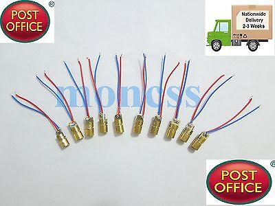 50 x mini 650nm 6mm 3V 5mW Laser Dot Diode Module Head WL Red