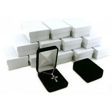 12 Black Velvet Pendant Earring Boxes Gift Case Display