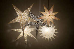 Hanging Christmas Decorations Ceiling.Details About Deluxe Paper Star Light Shades Hanging Ceiling Lampshades Christmas Decorations