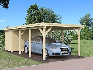 Carport mit Geräteraum Karl 2 Einzelcarport 360x762cm 12x12cm ...