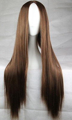 New Fashion Womens Wigs Multi-Color Anime Cosplay Party Wig 75cm Full Long Bangs