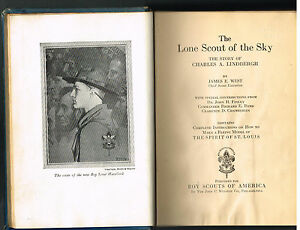 The-Lone-Scout-of-the-Sky-Charles-Lindbergh-James-West-1928-Vintage-Book