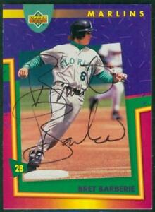 Original-Autograph-of-Bret-Barberie-of-the-Florida-Marlins-on-a-1993-UD-Card