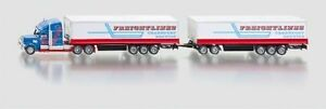Siku 1806 US Truck Road Train Freightlines with trailer Scale 1 87 #