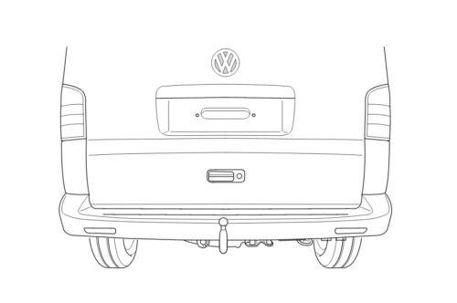 Für VW Transporter T5//T6 ab 2003 Kasten AHK starr WESTFALIA ohne E-Satz