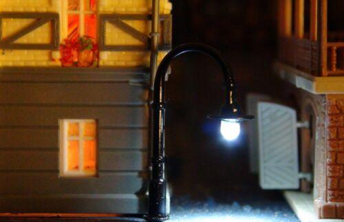 5 Noirs des lanternes en métal hauteur 40 mm blanc chaud