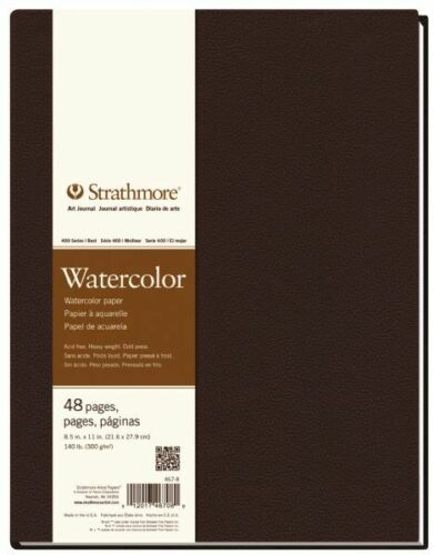 STRATHMORE PACON PAPERS 4678 WATERCOLOR ART JOURNAL HARDBOUND 140LB 32SH 8....