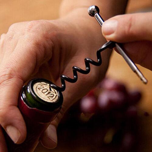 1X Mini EDC Rotwein Korkenheber Heber Korkenzieher Flaschenöffner @97k